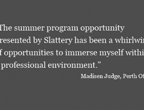 Showing the way: Slattery Summer Student Program 2018