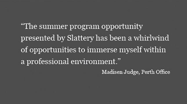 Showing the way: Slattery Summer Student Program 2018
