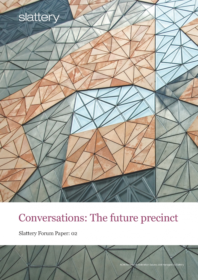 Conversations: The future precinct