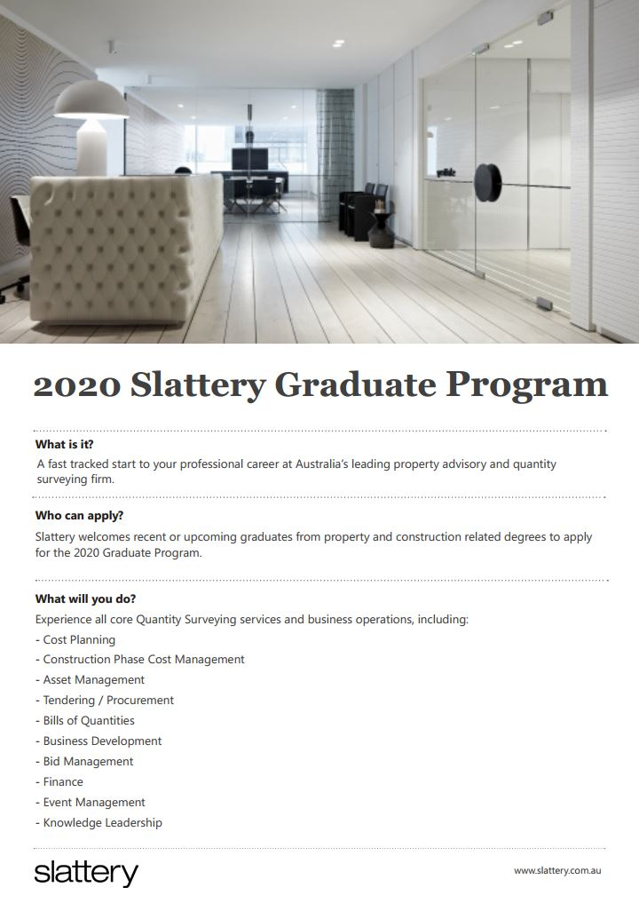 Applications now open for the 2020 Graduate Program and Student Program