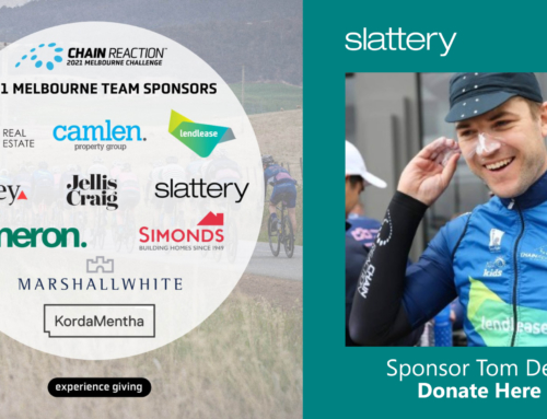 Slattery is participating in the 2021 Chain Reaction Challenge